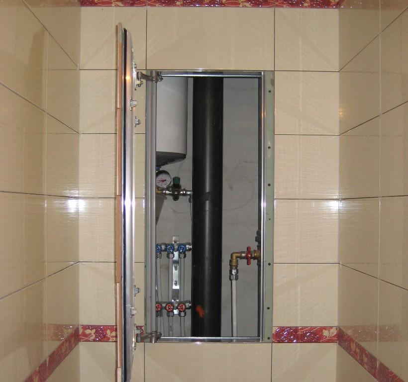 Дверка для сантехнического шкафа под плитку цена